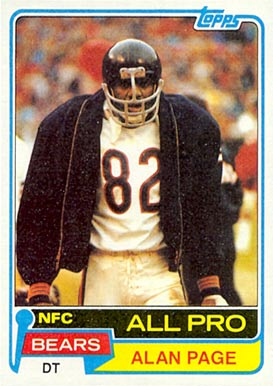 1981 Topps Alan Page #160 Football Card