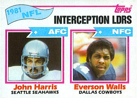1982 Topps Interception Leaders #261 Football Card