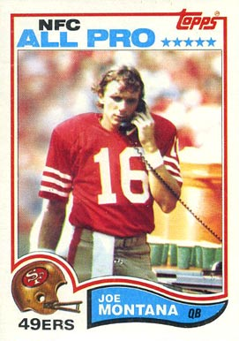 1982 Topps Joe Montana #488 Football Card