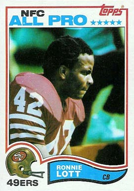 1982 Topps Ronnie Lott #486 Football Card