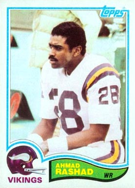 1982 Topps Ahmad Rashad #397 Football Card