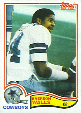 1982 Topps Everson Walls #327 Football Card