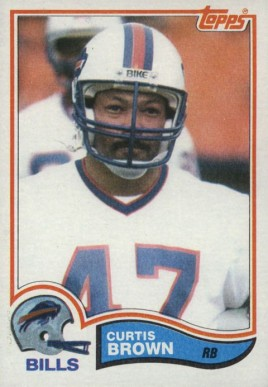 1982 Topps Curtis Brown #23 Football Card
