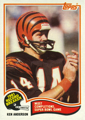 1982 Topps Ken Anderson #1 Football Card