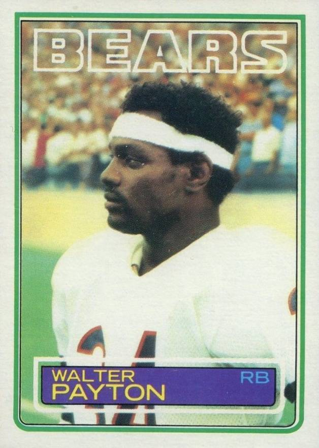 1983 Topps Walter Payton #36 Football Card