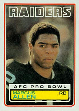 1983 Topps Marcus Allen #294 Football Card