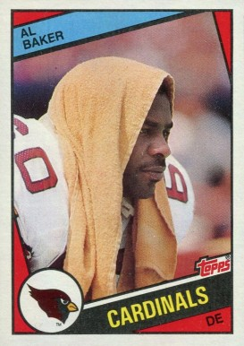 1984 Topps Al Baker #339 Football Card
