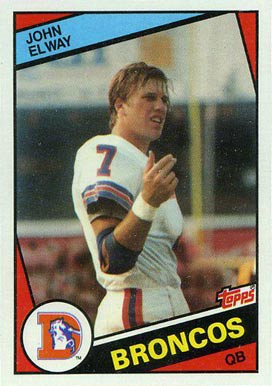 1984 Topps John Elway #63 Football Card