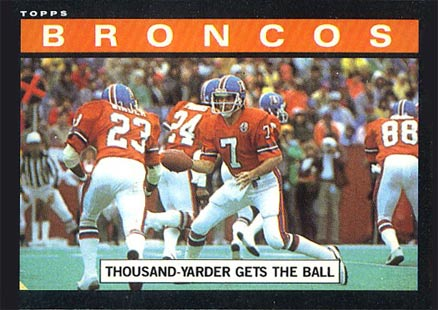 1985 Topps 1000 Yarder gets the ball #235 Football Card
