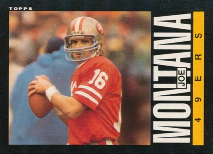1985 Topps Joe Montana #157 Football Card