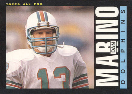 1985 Topps Dan Marino #314 Football Card
