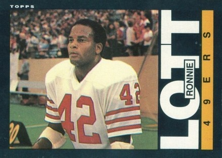 the latest 3905e 7cf5b 1985 Topps Ronnie Lott #156 Football Card Value Price Guide