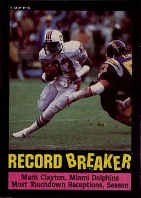 1985 Topps Mark Clayton #1 Football Card