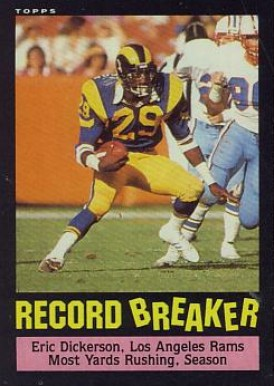 1985 Topps Eric Dickerson #2 Football Card