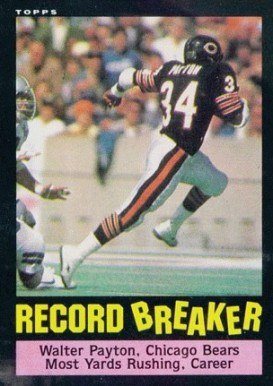 1985 Topps Walter Payton #6 Football Card