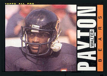 1985 Topps Walter Payton #33 Football Card