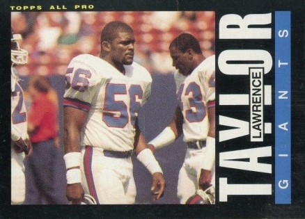 1985 Topps Lawrence Taylor #124 Football Card