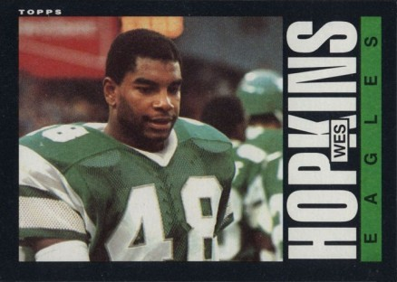 1985 Topps Wes Hopkins #129 Football Card