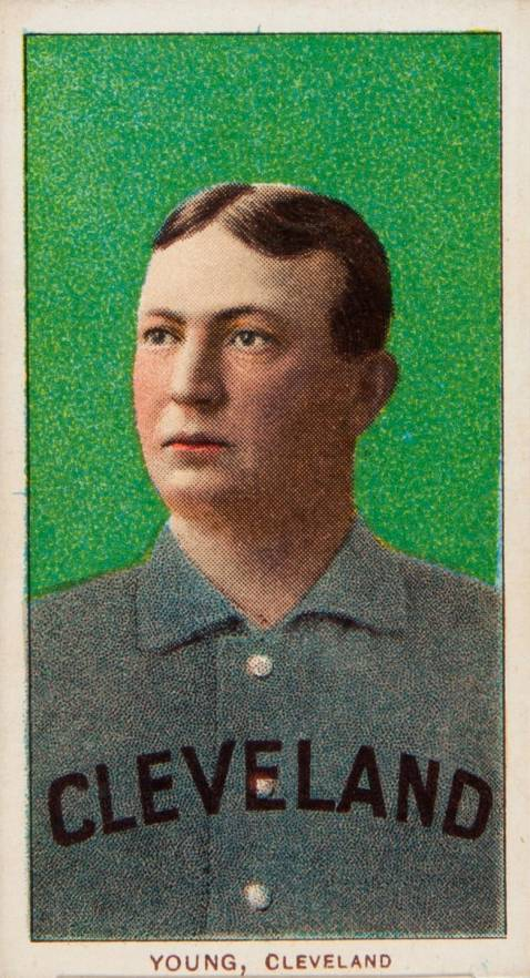 1909 White Borders Old Mill Young, Cleveland #523 Baseball Card