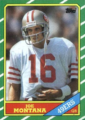 1986 Topps Joe Montana #156 Football Card