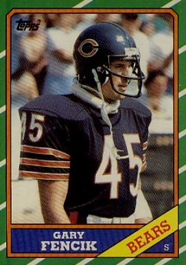 1986 Topps Gary Fencik #28 Football Card