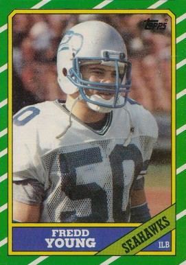 1986 Topps Fredd Young #210 Football Card