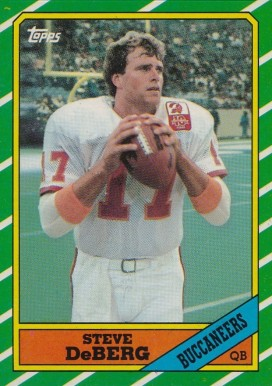 1986 Topps Steve Deberg #373 Football Card