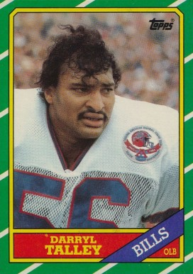 1986 Topps Darryl Talley #391 Football Card