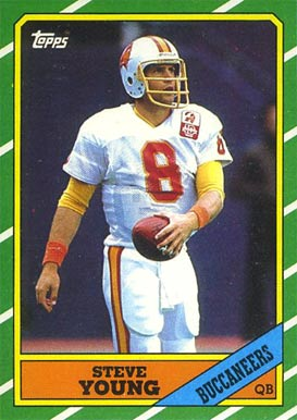 1986 Topps Steve Young #374 Football Card
