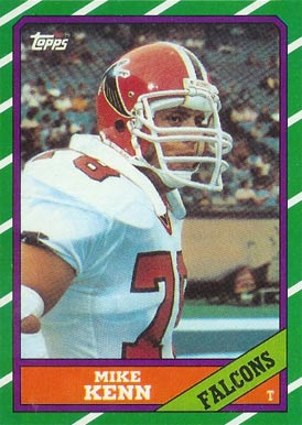 1986 Topps Mike Kenn #366 Football Card