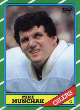 1986 Topps Mike Munchak #356 Football Card