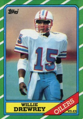 1986 Topps Willie Drewrey #354 Football Card