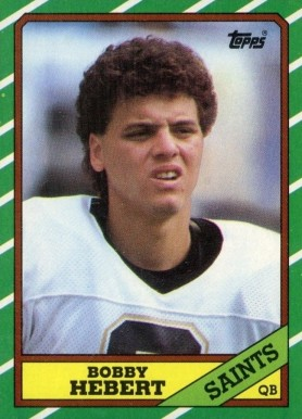 1986 Topps Bobby Hebert #339 Football Card