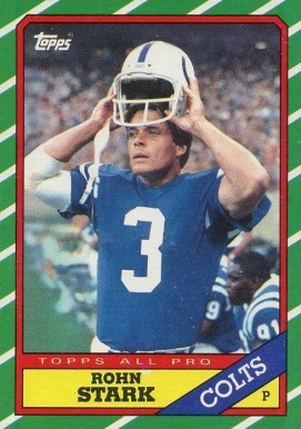 1986 Topps Rohn Stark #325 Football Card