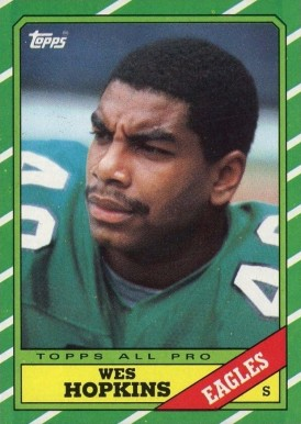 1986 Topps Wes Hopkins #279 Football Card
