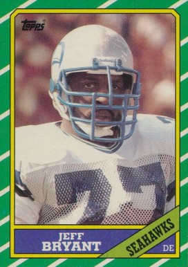 1986 Topps Jeff Bryant #208 Football Card