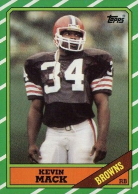 1986 Topps Kevin Mack #188 Football Card