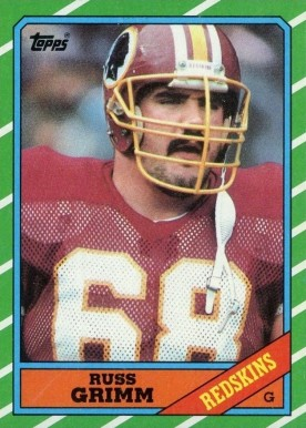 1986 Topps Russ Grimm #178 Football Card