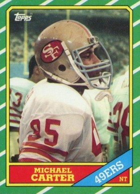 1986 Topps Michael Carter #165 Football Card