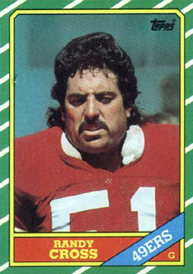 1986 Topps Randy Cross #162 Football Card