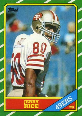 1986 Topps Jerry Rice #161 Football Card