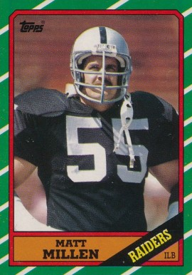 1986 Topps Matt Millen #72 Football Card
