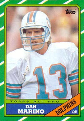 1986 Topps Dan Marino #45 Football Card