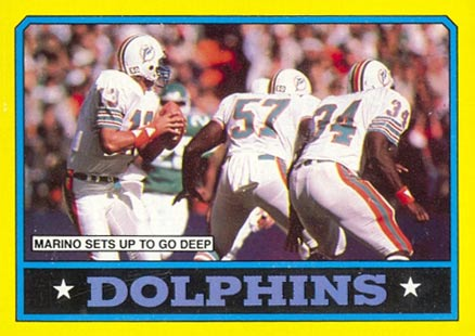 1986 Topps Dan Marino #44 Football Card