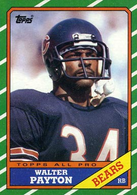 1986 Topps Walter Payton #11 Football Card
