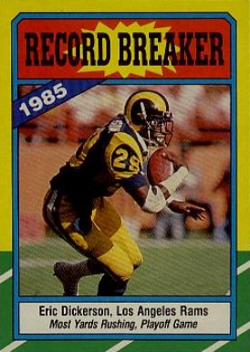 1986 Topps Eric Dickerson #2 Football Card