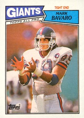 1987 Topps Mark Bavaro #17 Football Card
