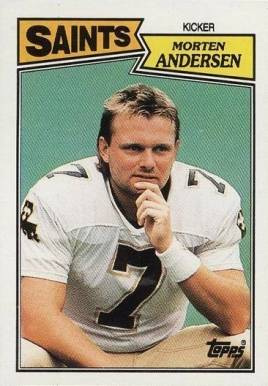1987 Topps Morten Andersen #277 Football Card