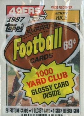 1987 Topps Cello Pack #CP Football Card