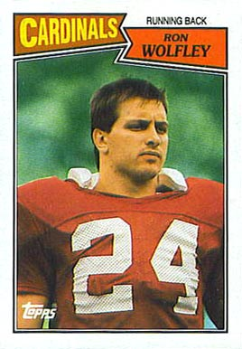1987 Topps Ron Wolfley #333 Football Card